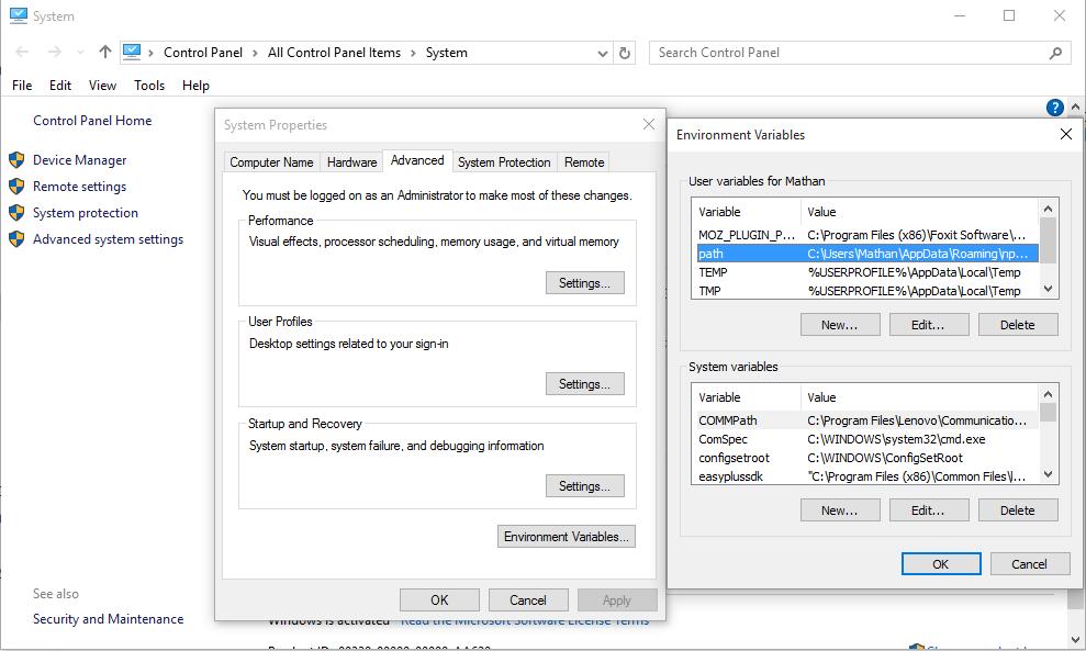 Installing JDK on windows and setting classpath