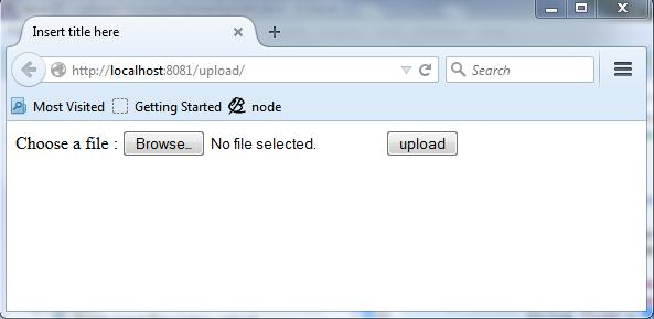 File upload example using servlet and Jsp