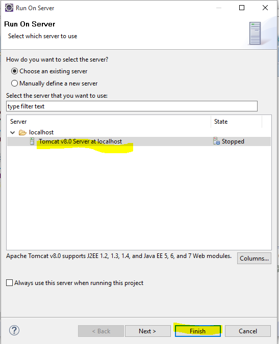 how to run html file in eclipse using tomcat