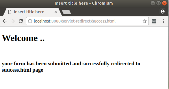 Servlet redirect | Servlet redirect example using eclipse