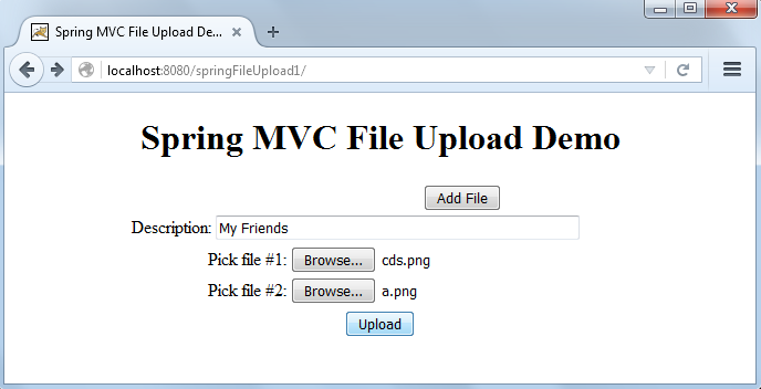Spring MVC File upload tutorial with example