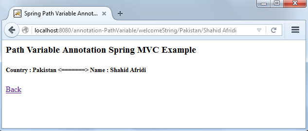 Spring Mvc Annotation Pathvariable Example