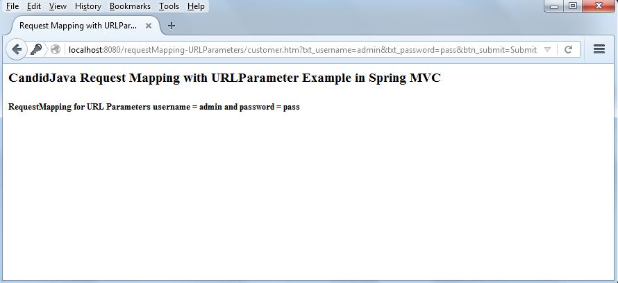 Spring MVC Annotation @RequestParam example